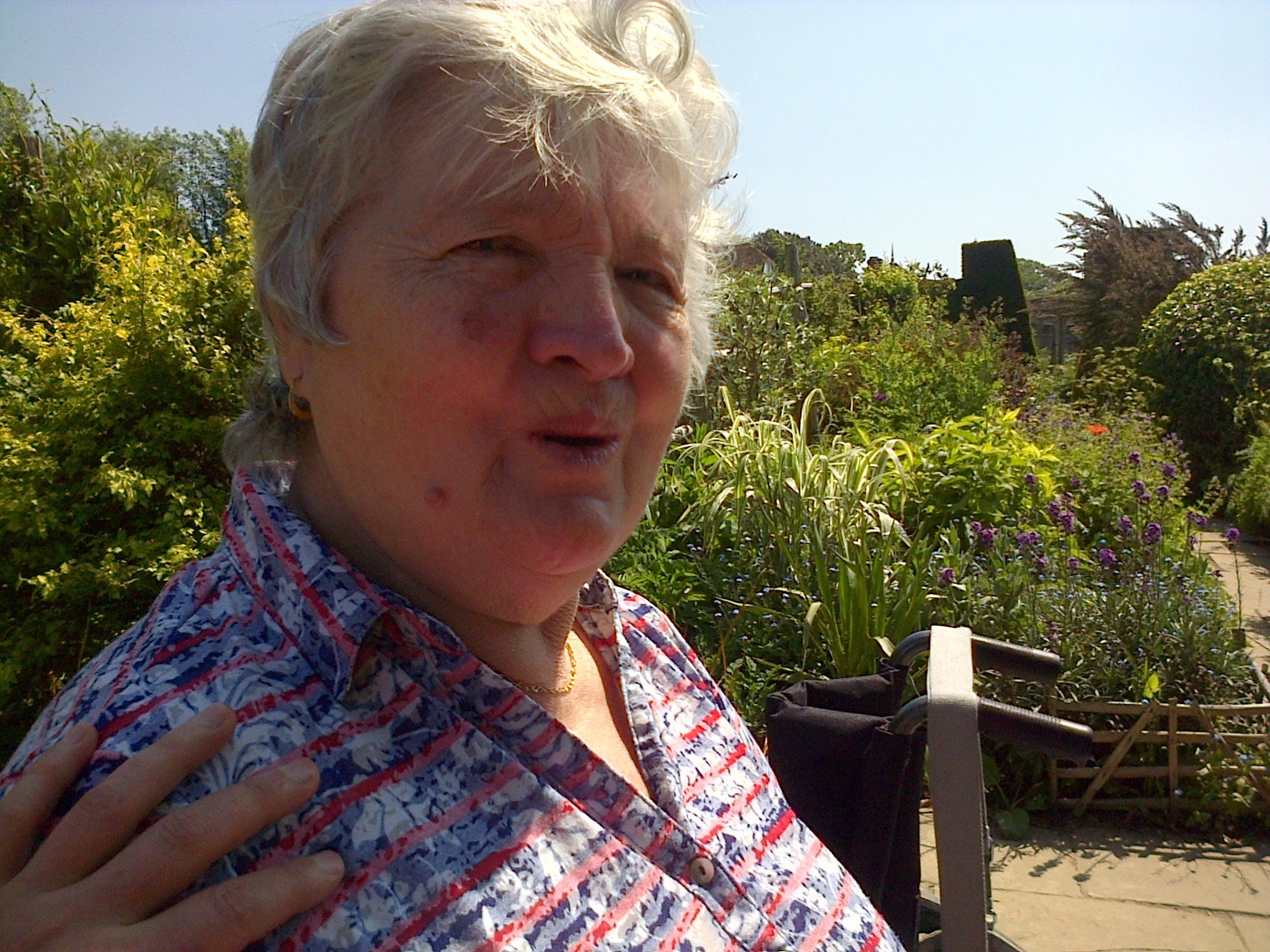 Mum at Great Dixter 2014