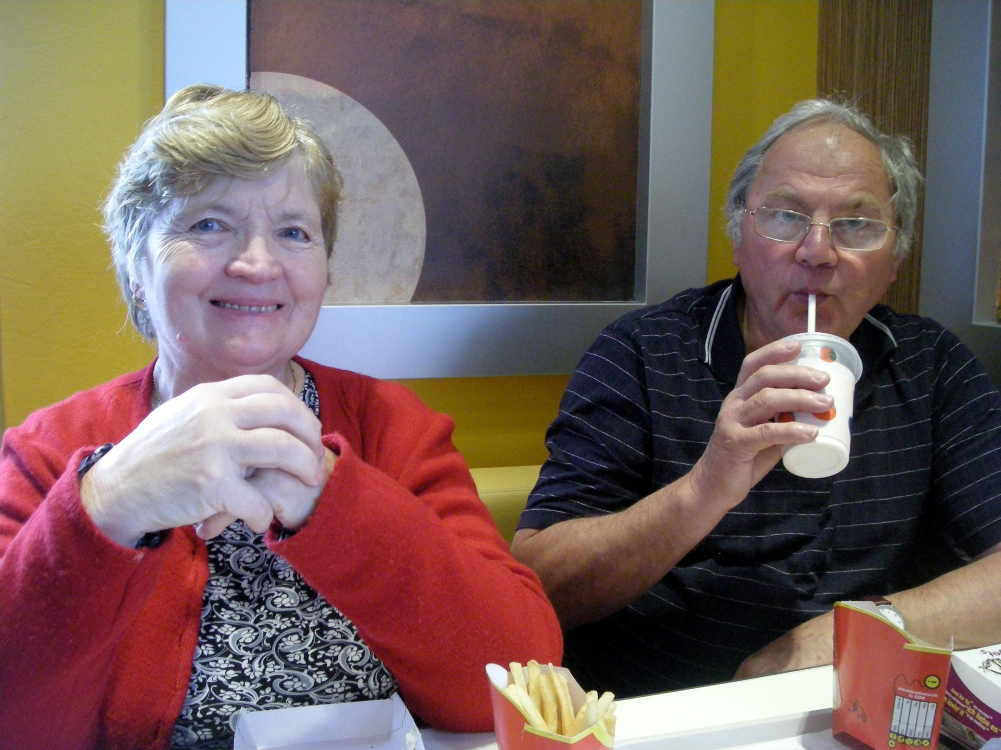 Mum and Dad at McDonalds!