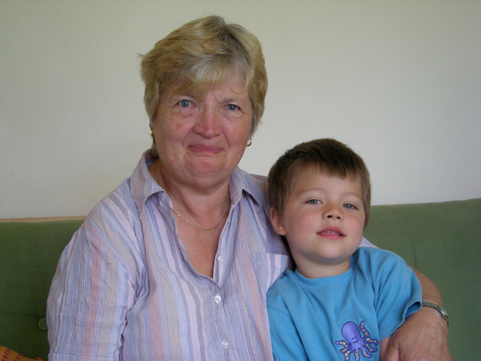 Mum with Nye at our house in 2008