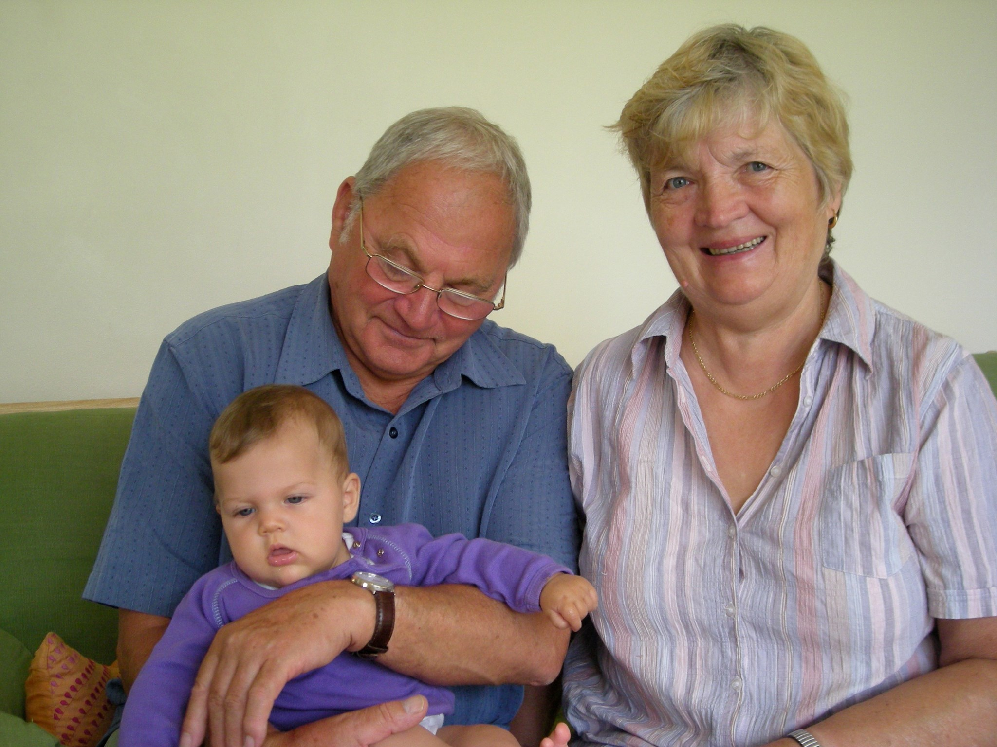Mum and Dad with Olive in 2008