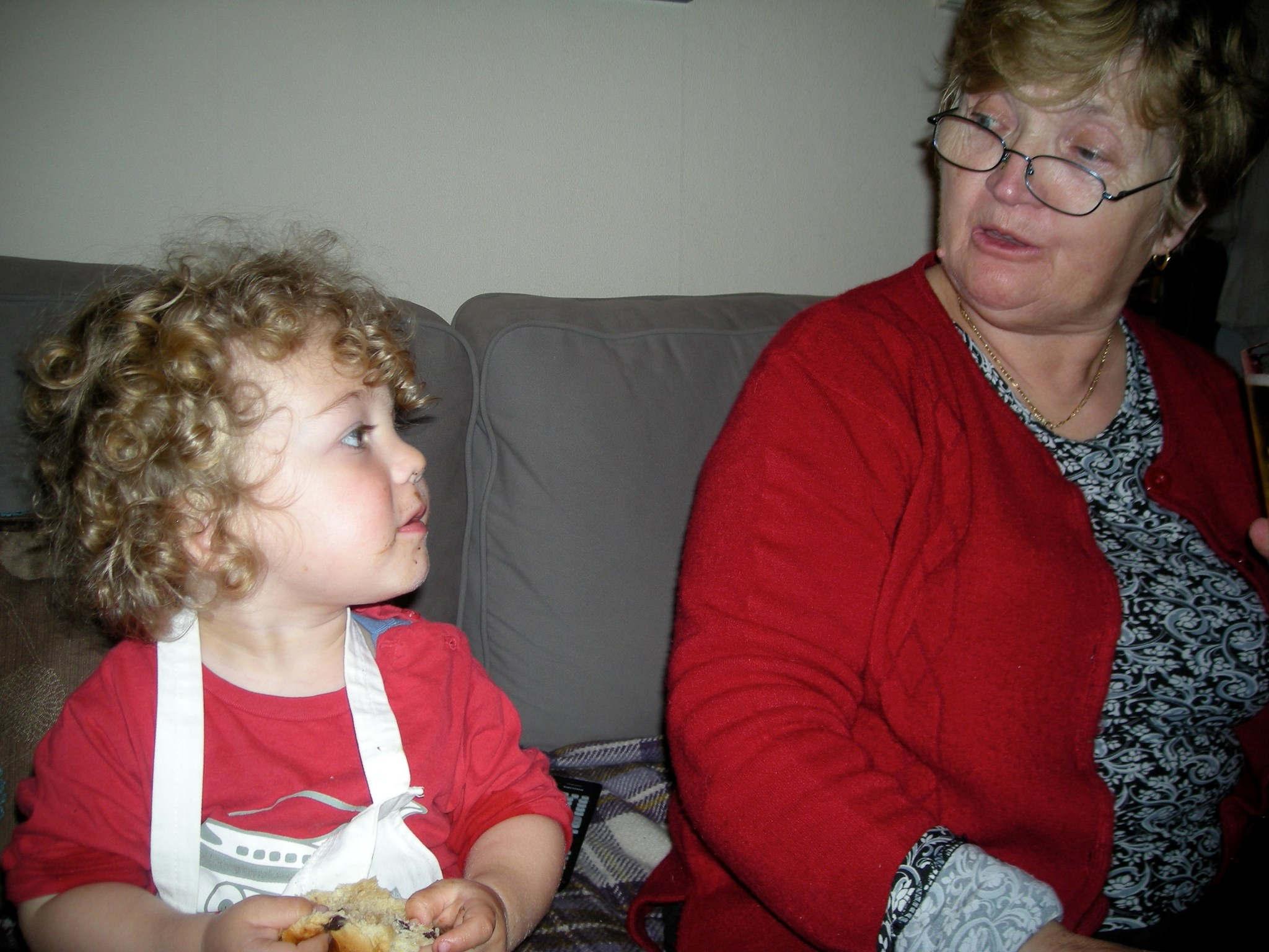 Mum with Francis - I'm assuming 2008 again