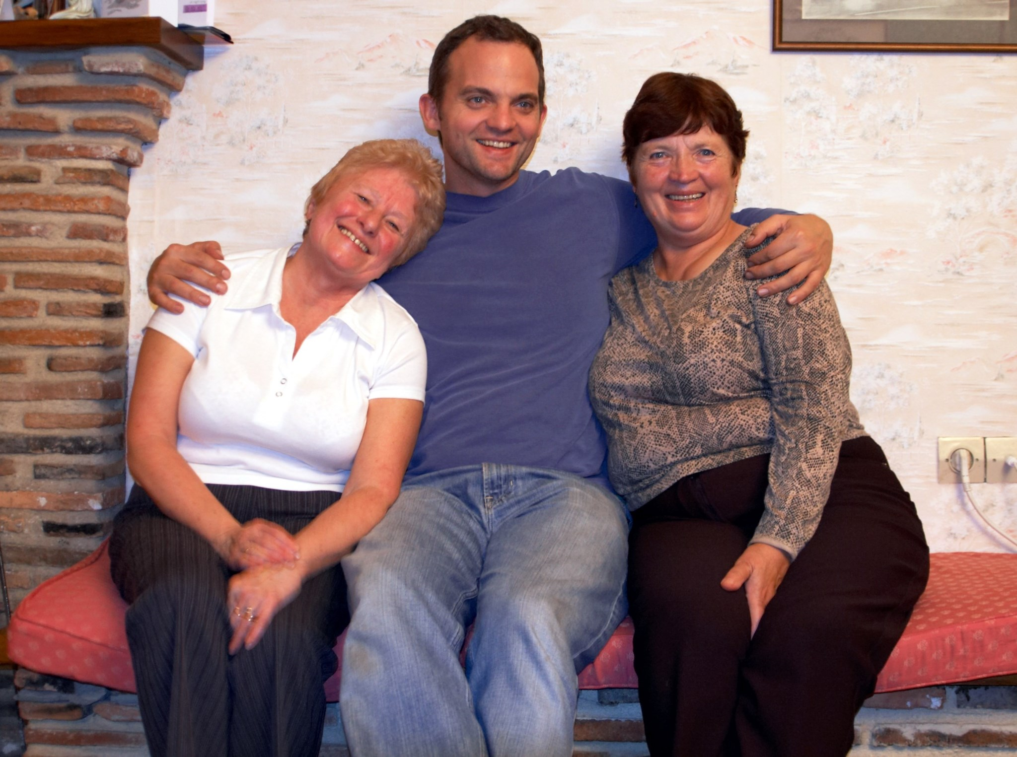 Mum with Pam and Steve, same holiday