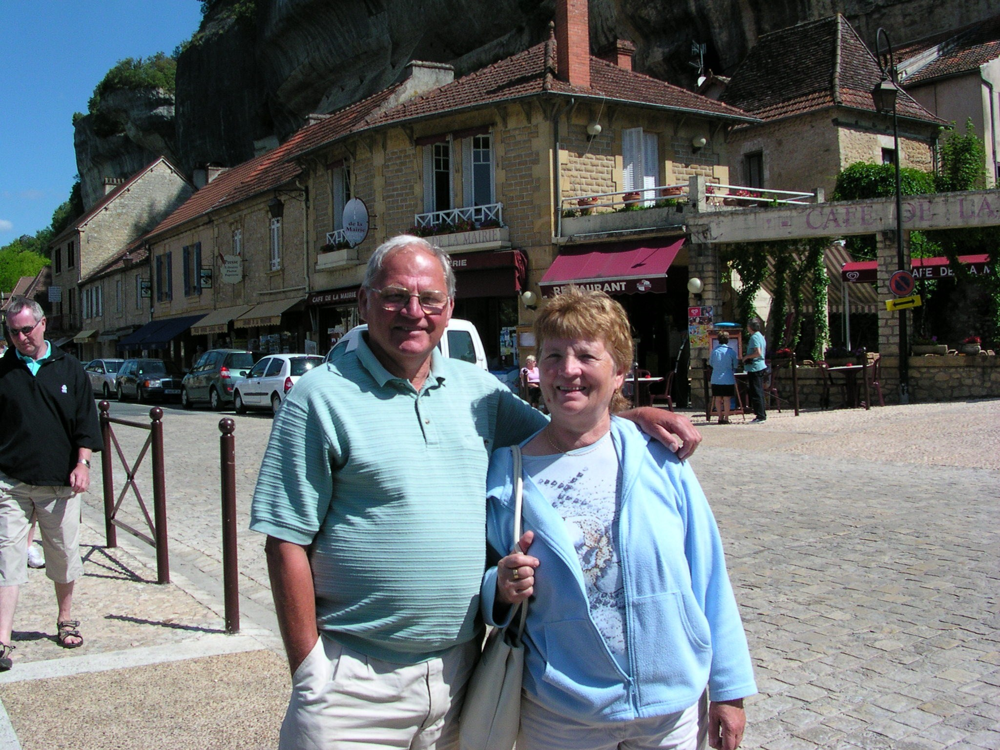 Great hosts Hilda and Norman on our lovely holiday in France 2006.