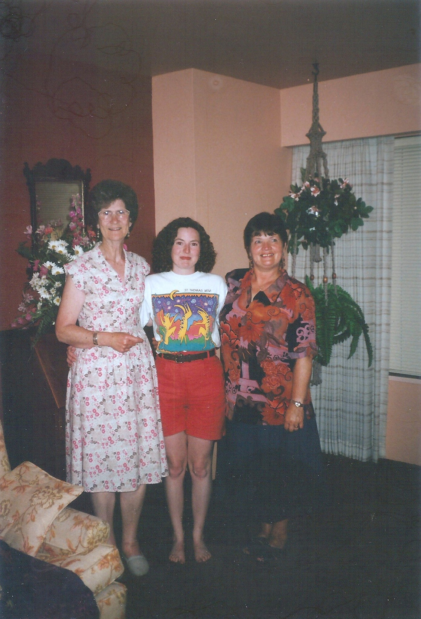 Nancy Rachael and Hilda 1994 visit