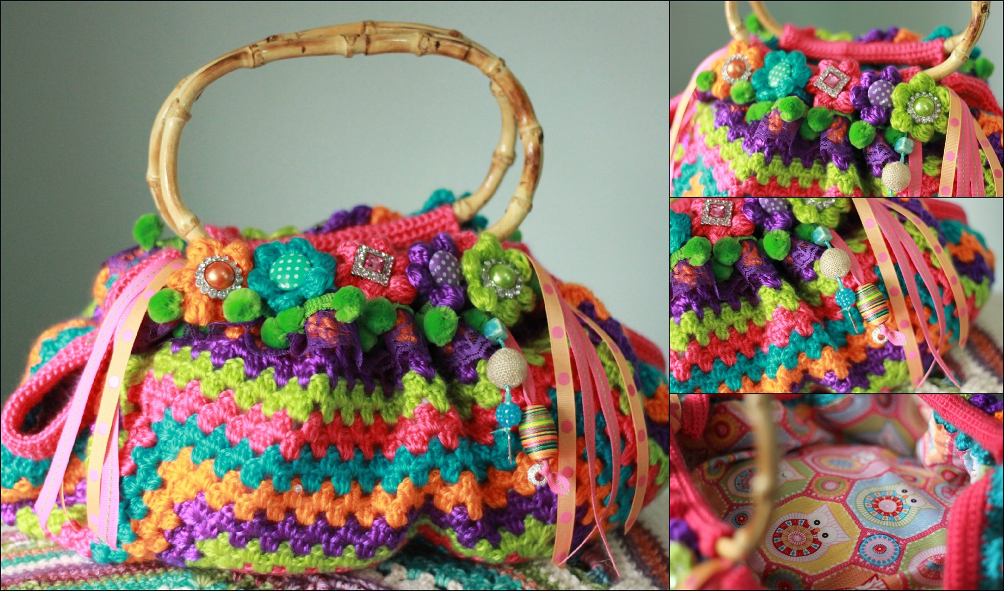My Fat Bottom Bag inspired and made from Wink's blog.....RIP sweet, talented lady :(