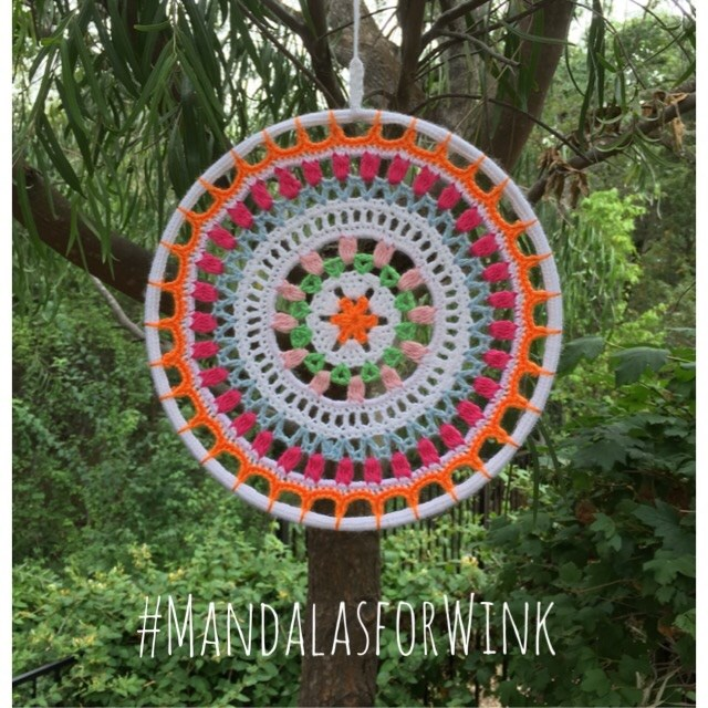 "Wink's ""I Love Holland"" mandala. I will always treasure and celebrate her life through crochet."