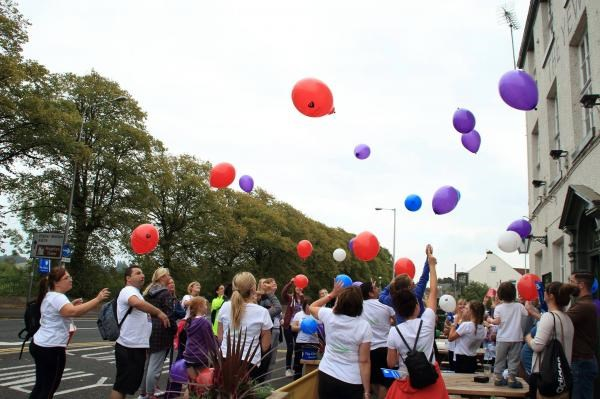 Tribute Balloons for Jackie at Preston
