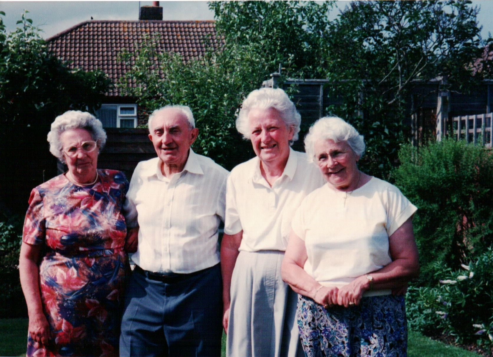 Dad with Mum and sisters, Penny and Rene