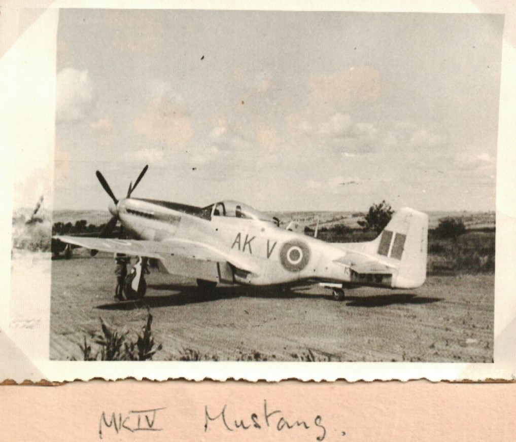Mustang IV of 213 Squadron - Dads Plane