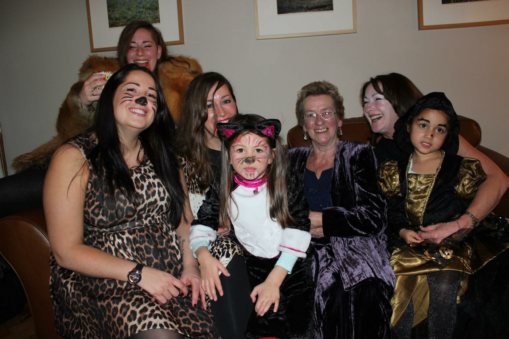 Rita with her cats and witches : )