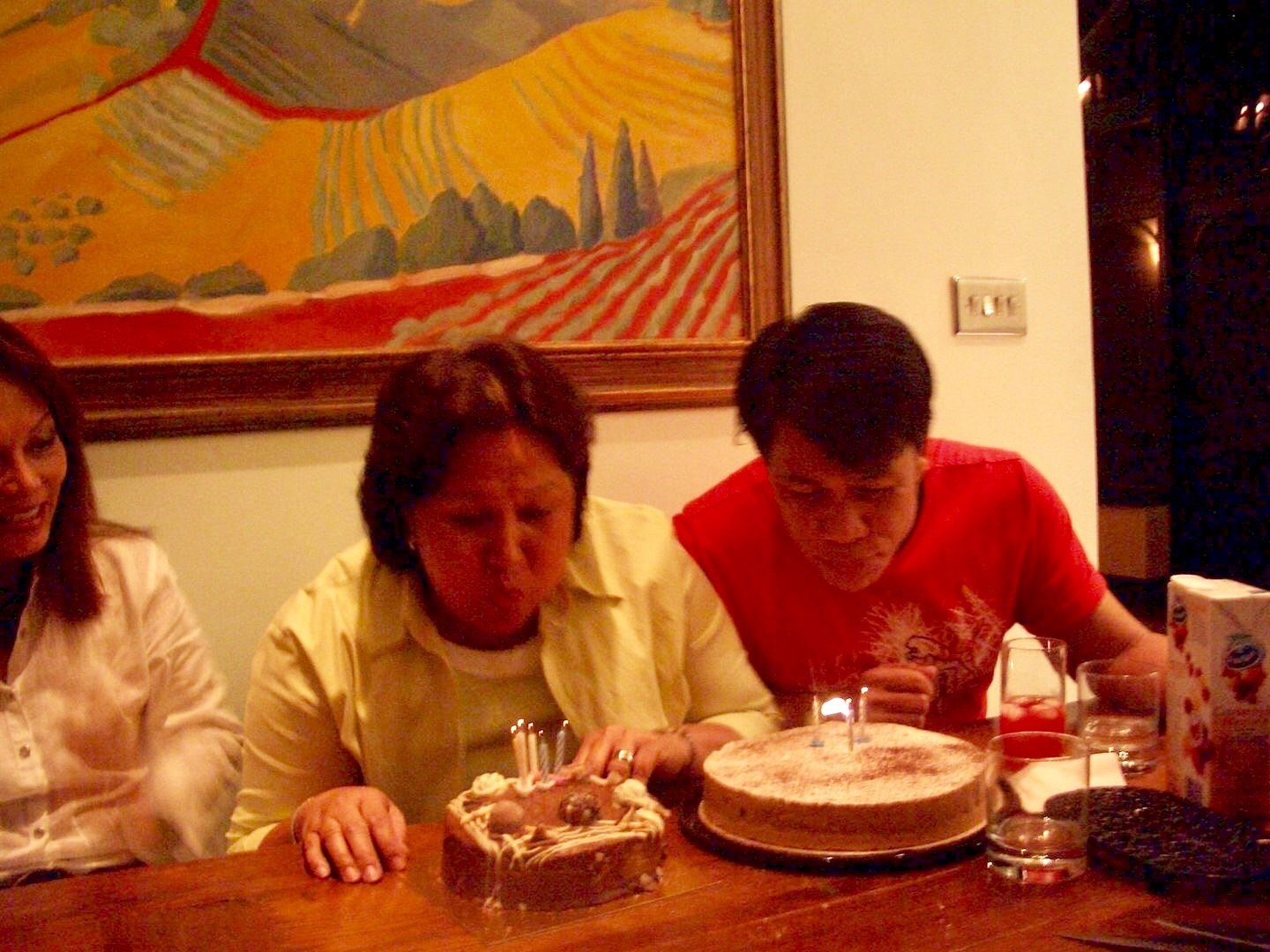 combined Bday celebration w/ my youngest Brother Orly