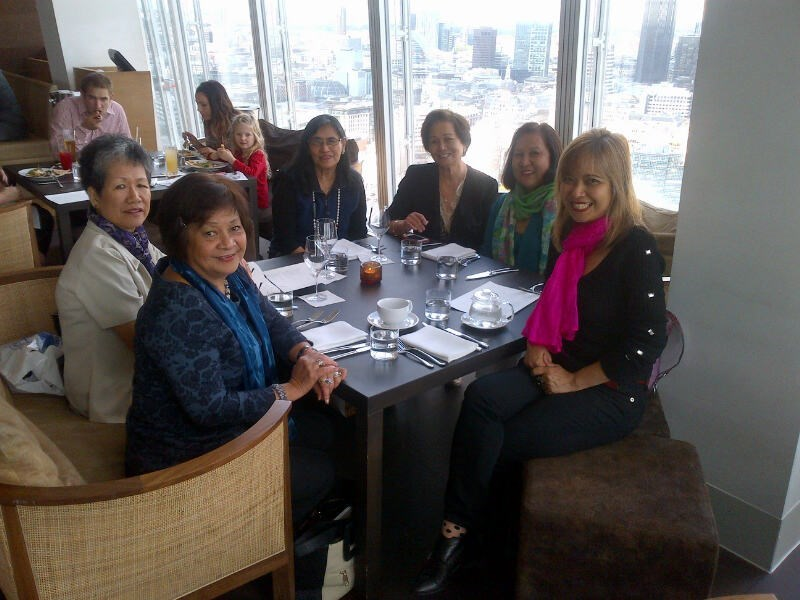 An afternoon with Esther and few FWA-UK friends, Elvie, Bing, Clarita, Linda, Jeannette.