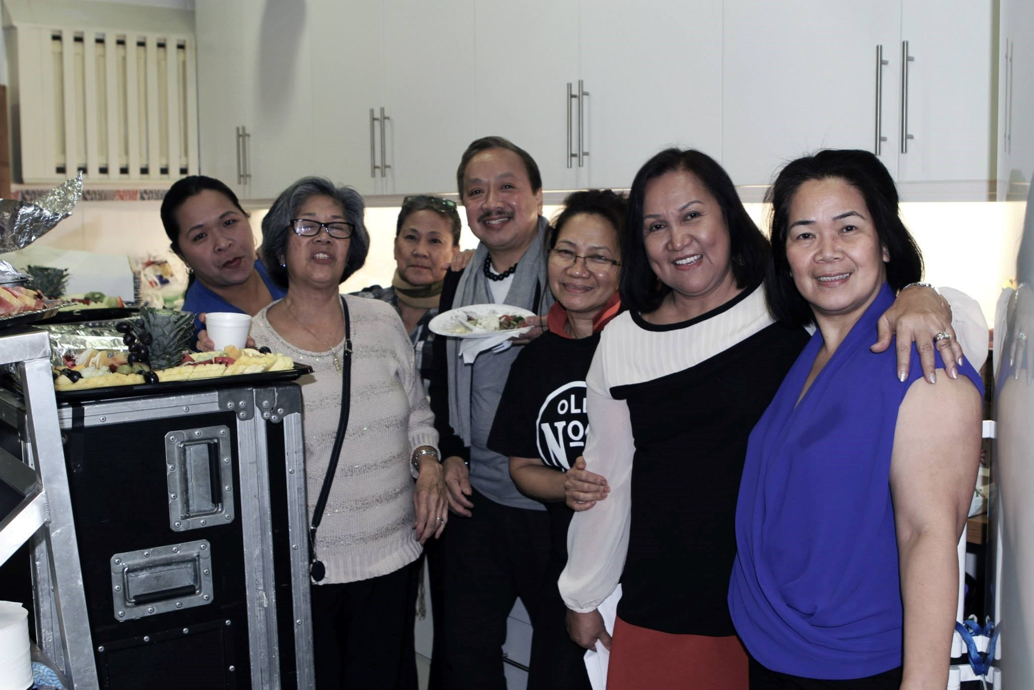 Esther, Beth and friends at the Haiyan fundraising campaign
