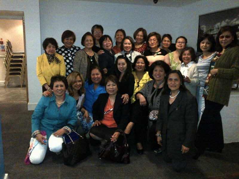 Esther and FWA-UK ladies at one of the general meetings.