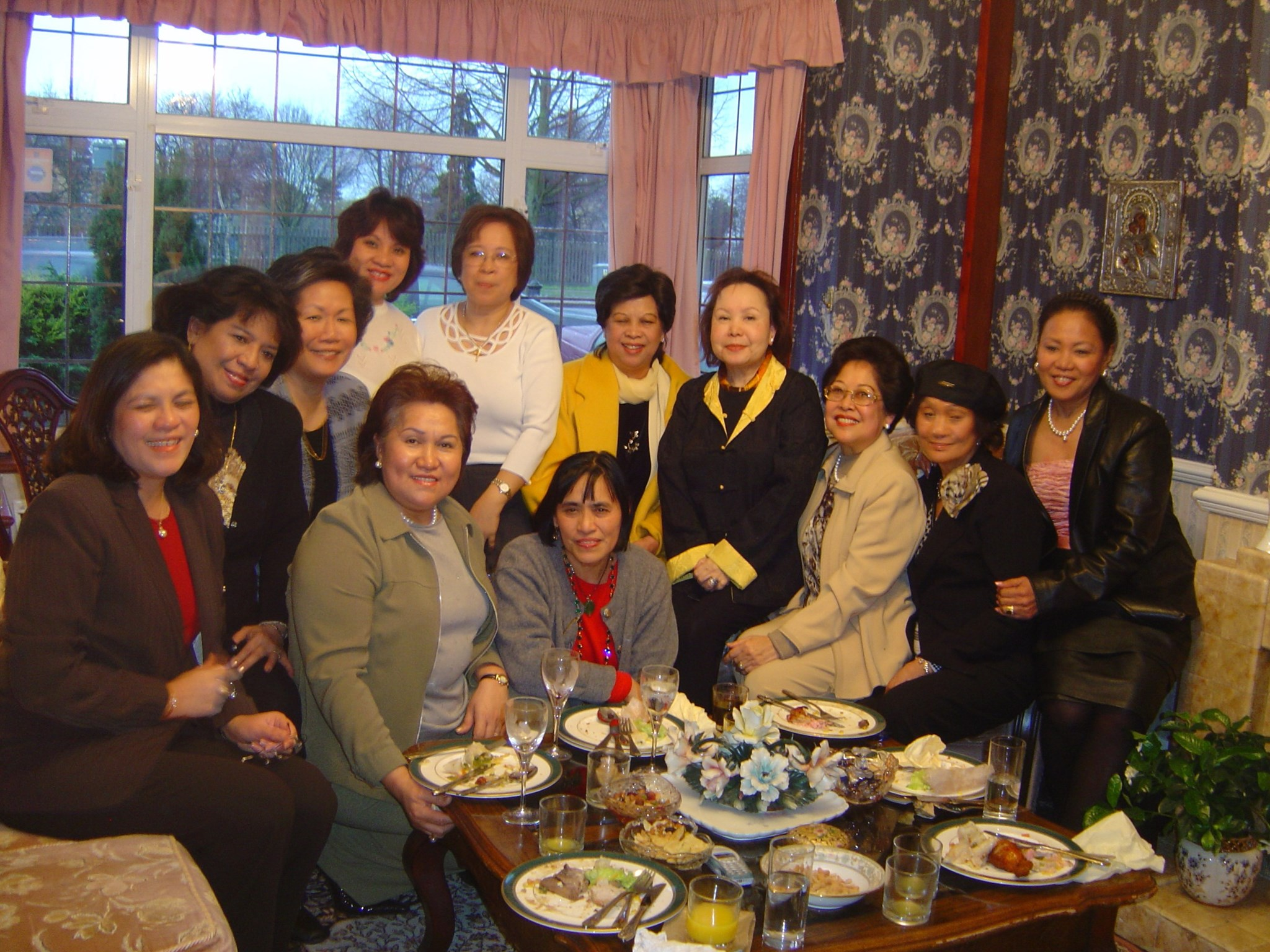 Esther with FWA-UK ladies and Philippine Embassy friends