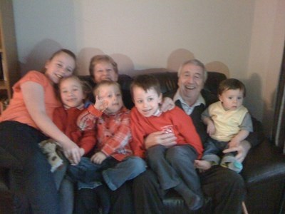 Jim with Grandchildren