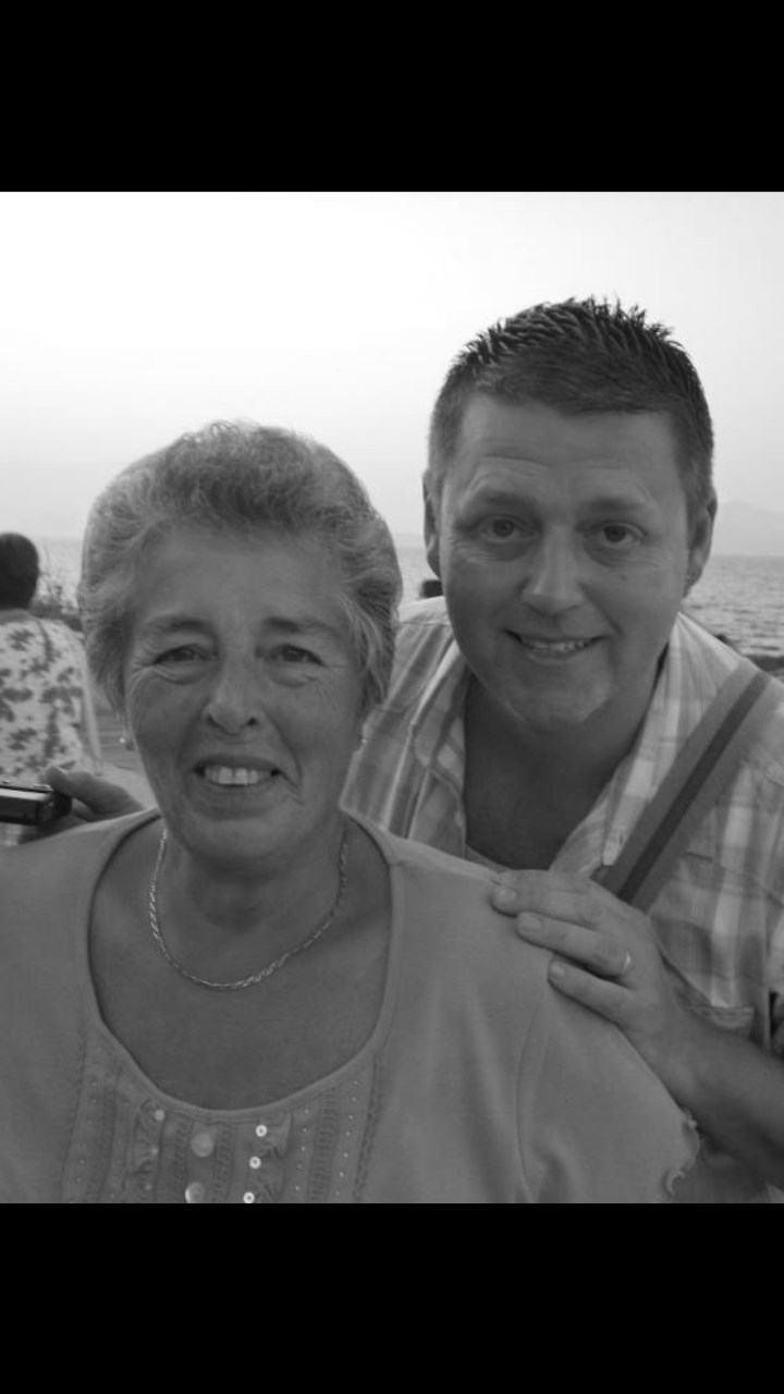 Me and you mum...loving spain xxx