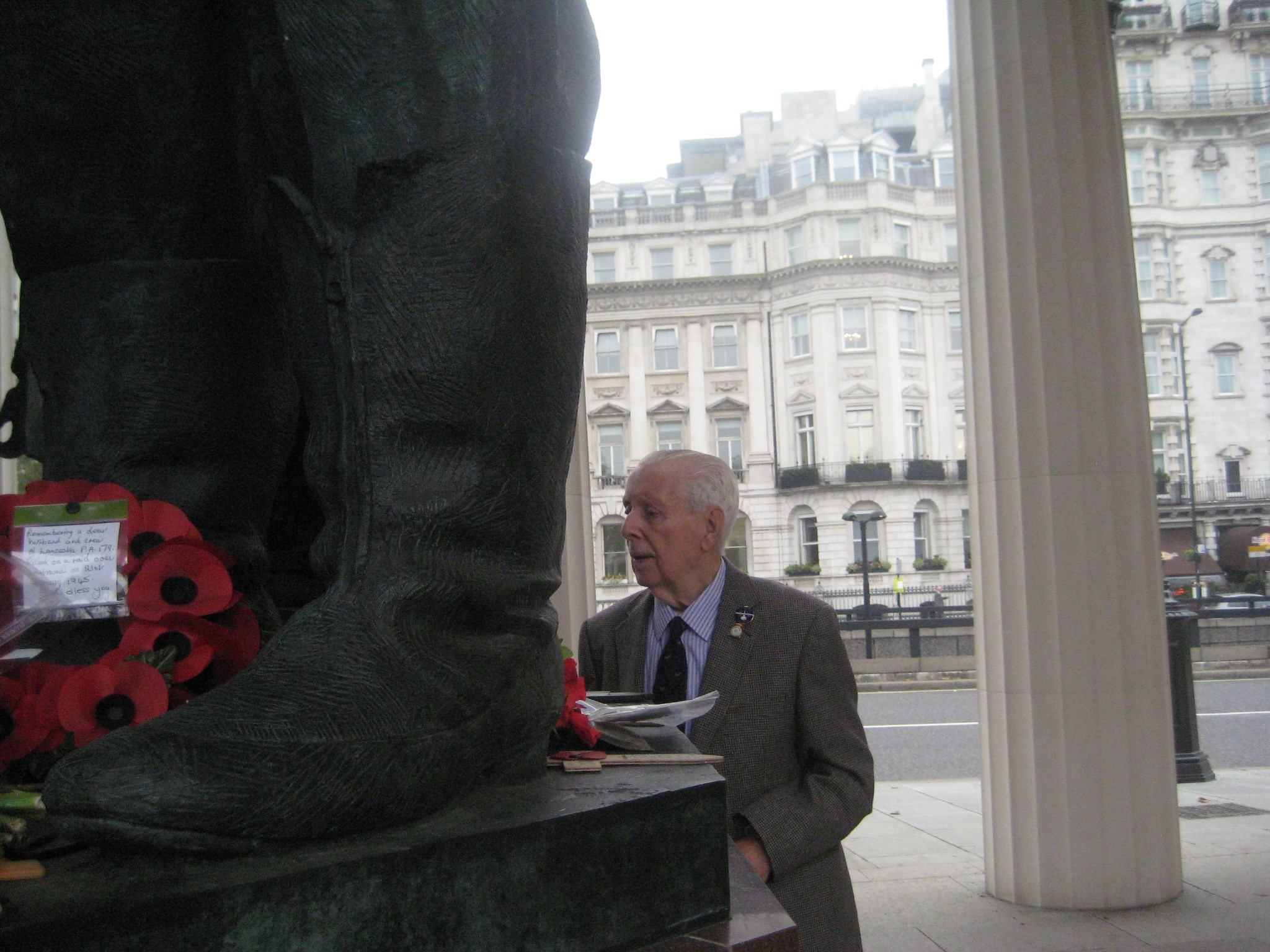 Dad at the Bomber Command Memorial in London