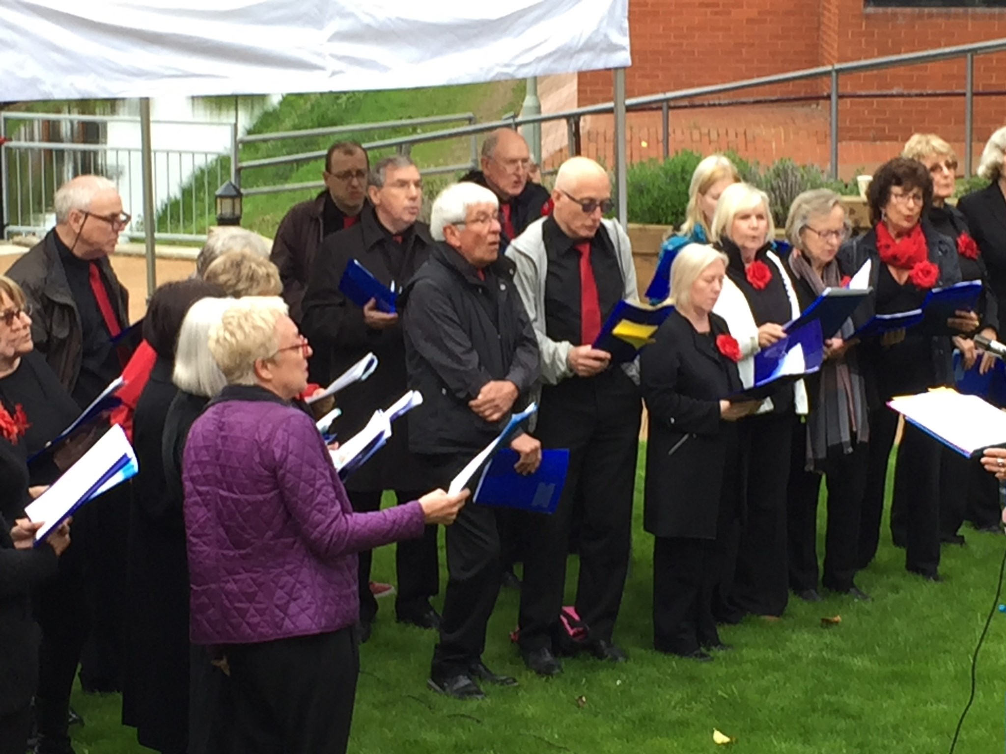 Dad singing in the Maidenhead Community Choir, April 2018