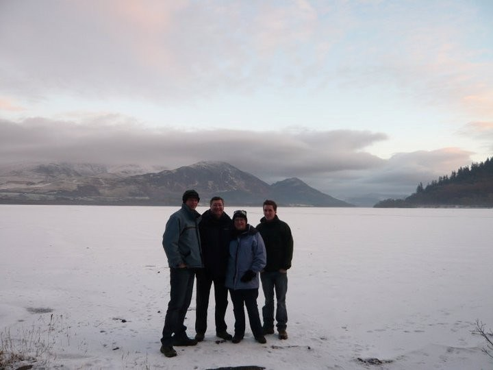 Standing on Bassenthwaite Lake just after moving into Link House