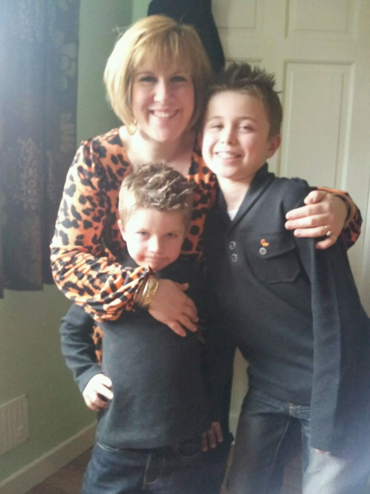 michelle and her 2 sons James and Dylan.