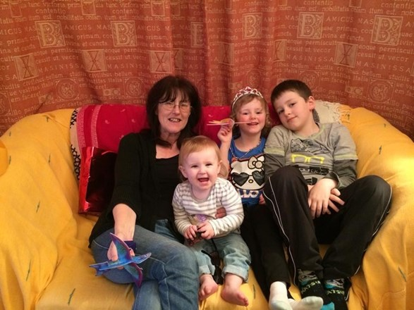 Ann with Jonathan, Rachael and Charlotte