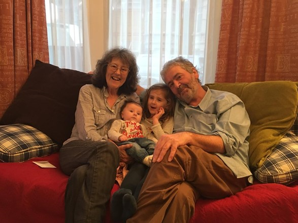 Nanny and Grandad with Charlotte and Ella
