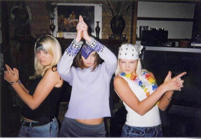 Krystin, Heather and Tiffany : I think they were about 16
