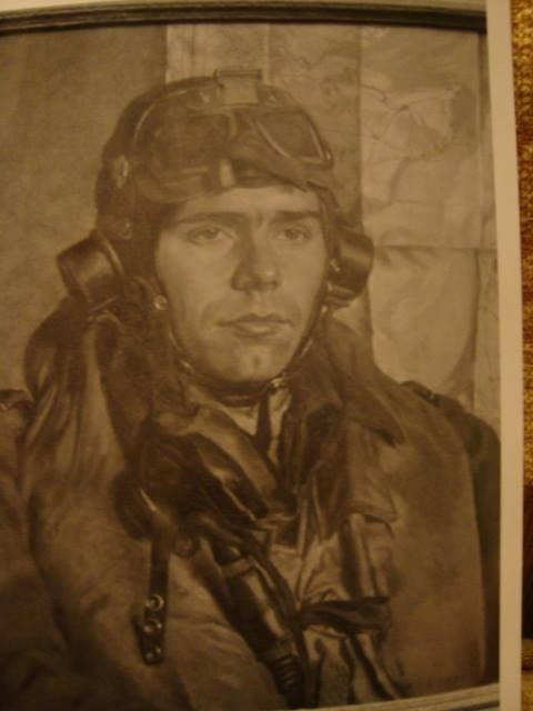 The portrait that hangs in my house done by a war artist