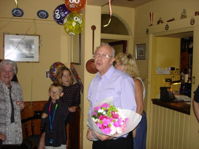 Dad's suprise at secret 60th birthday party