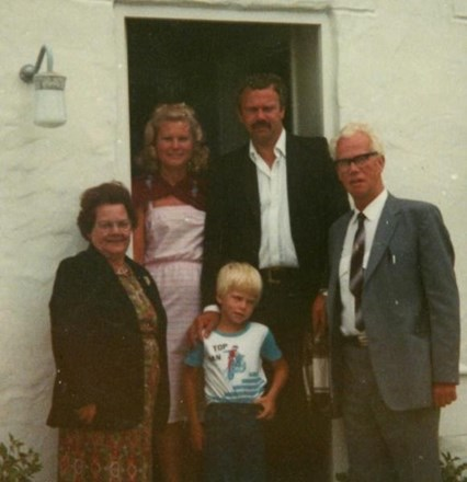 Holiday in Guernsey, Dad with his amazing moustache
