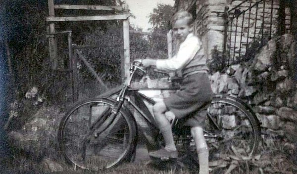 dad with bike
