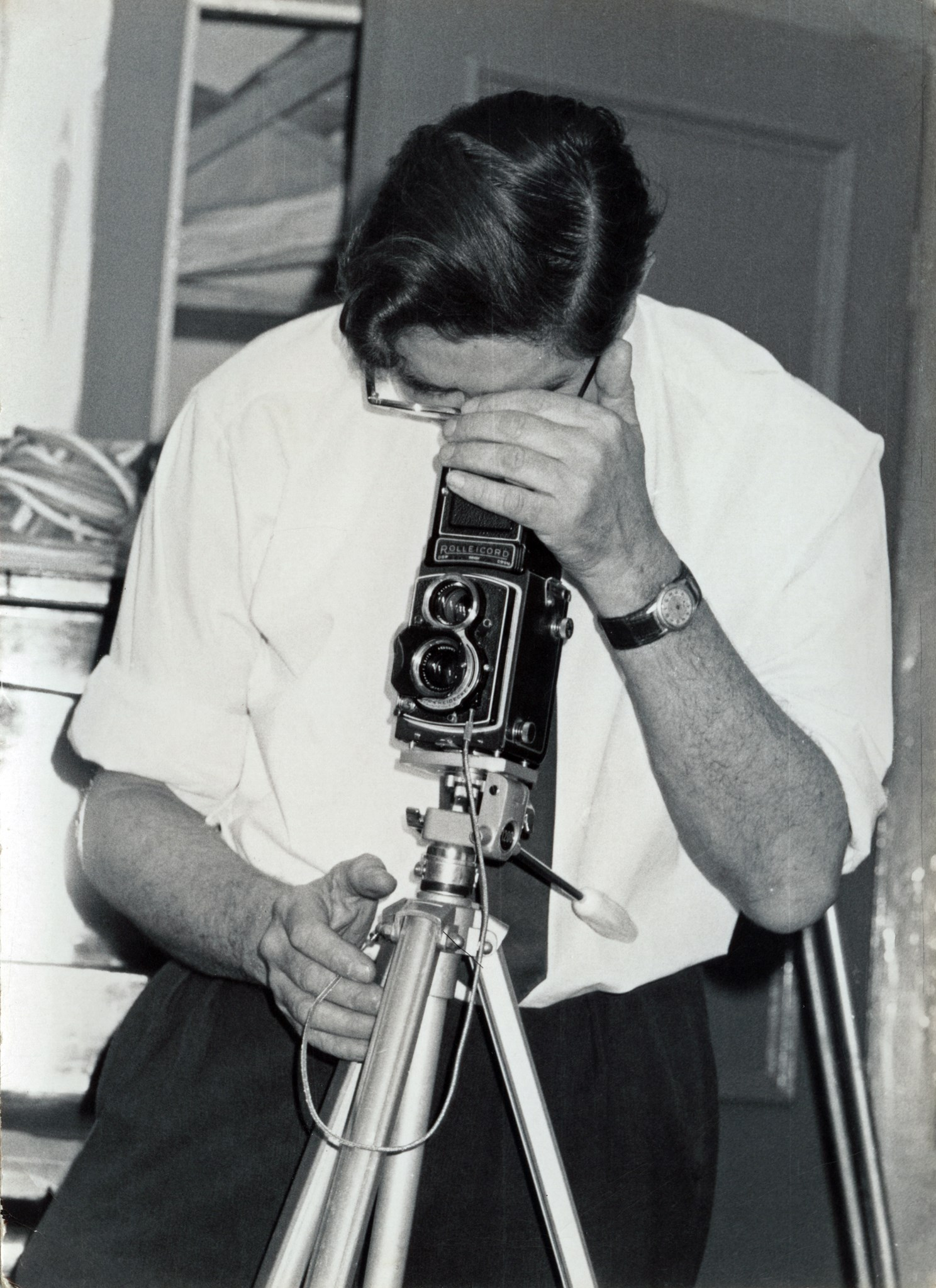 Dad with Rollei