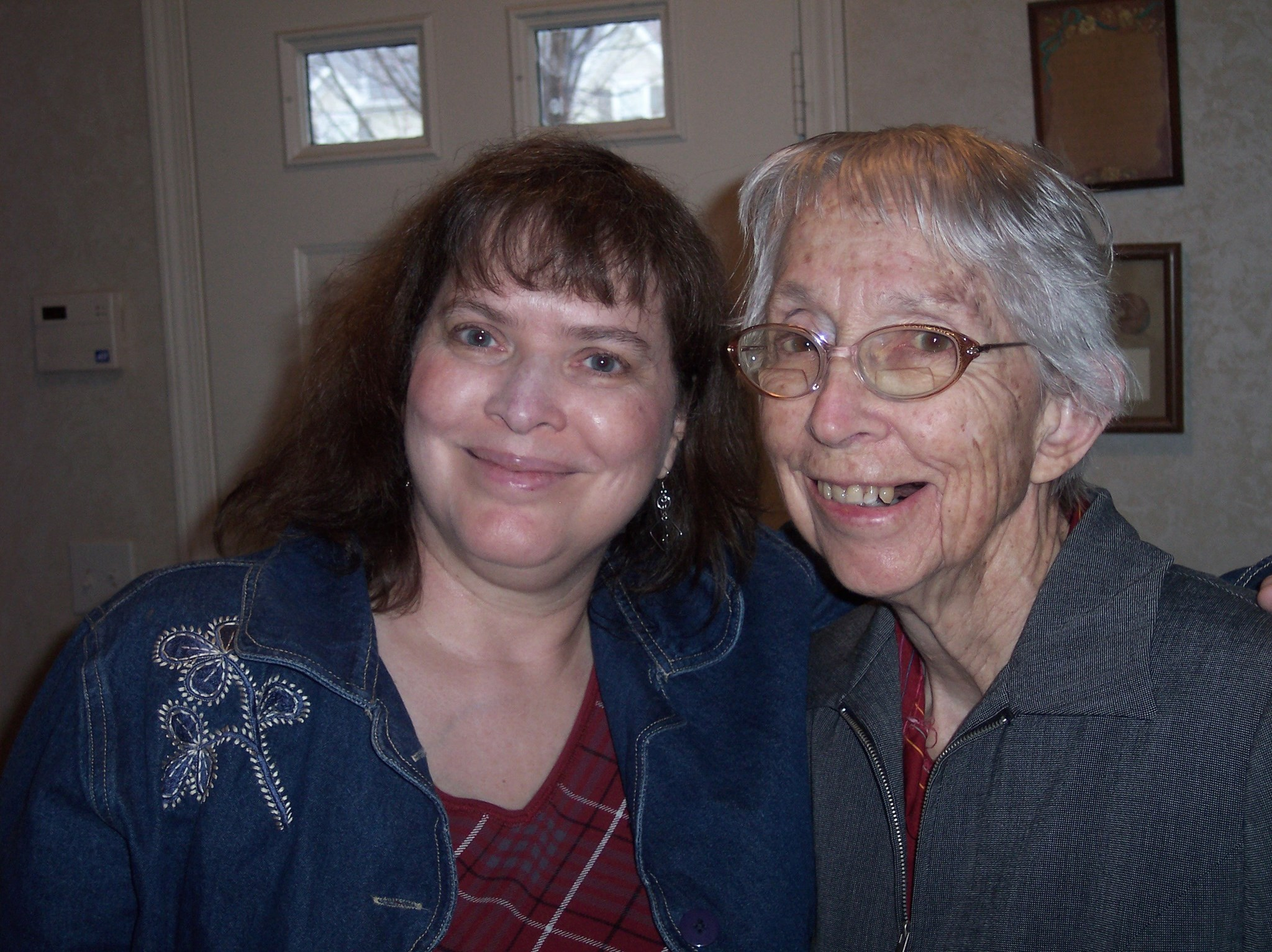 Sue Ford and Dorothy Uhlig April 2009 - last time we were together in person