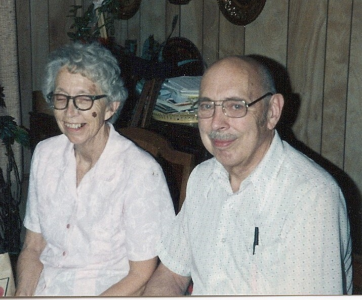 Dorothy and her brother Chuck - late 80s or early 90s?