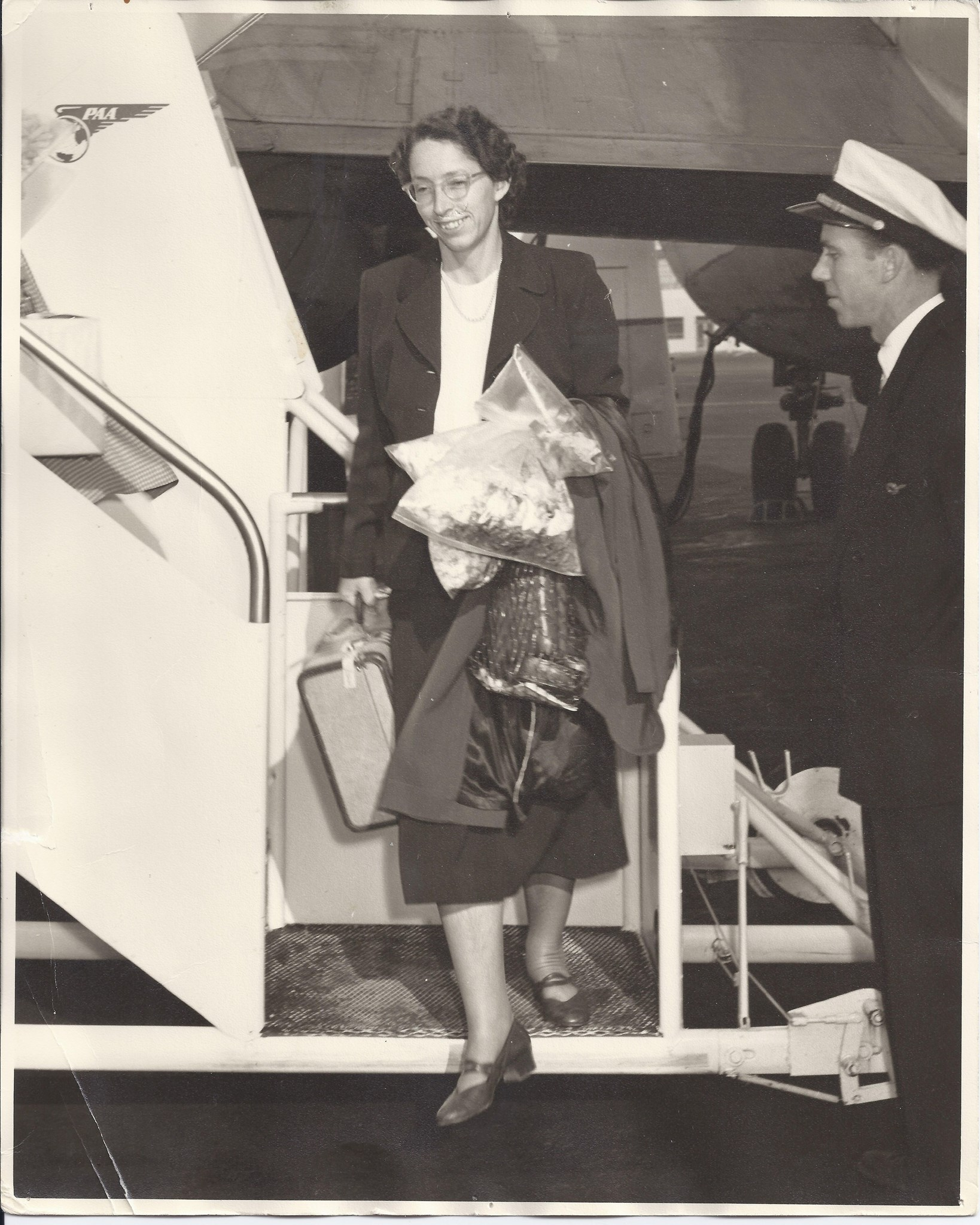 1956 Arriving back in America first time