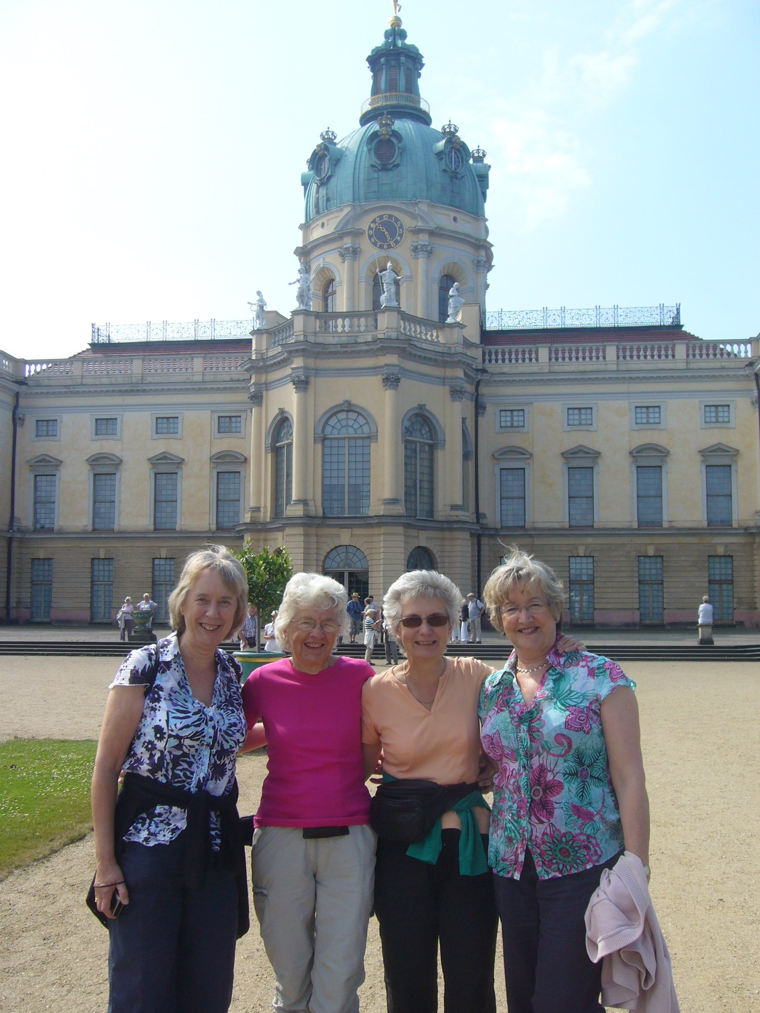 Jane with Nicole and friends in Berlin