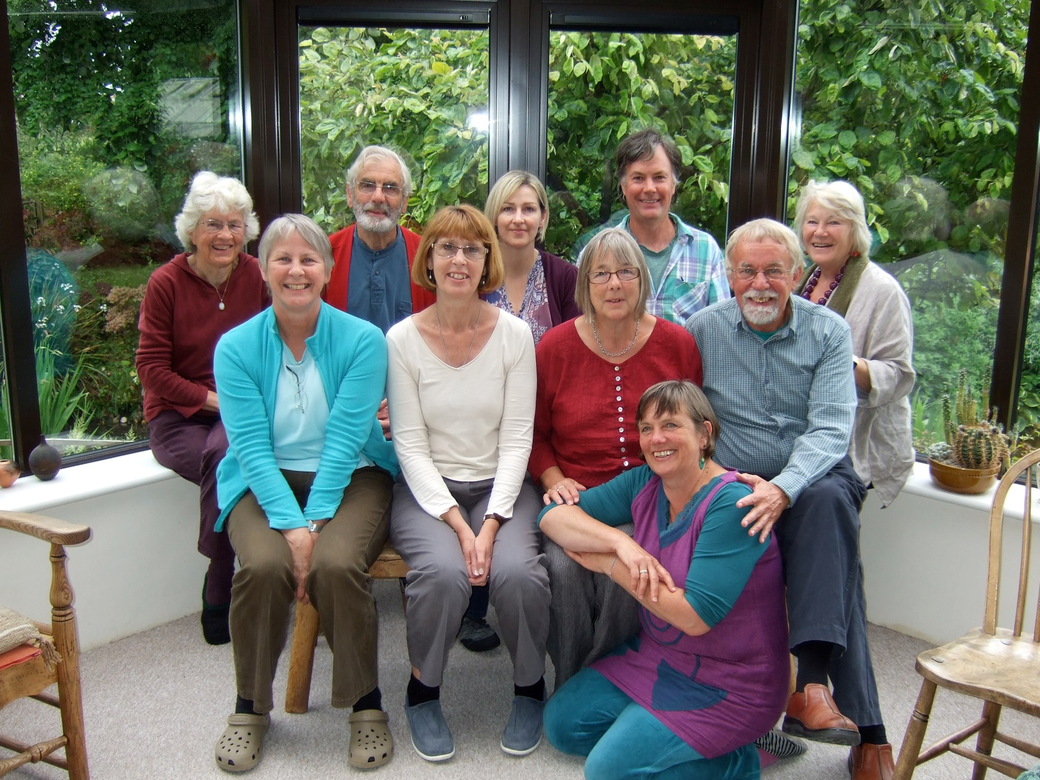 Jane Taylor + some Bridport Cohousing friends at home in Upwey