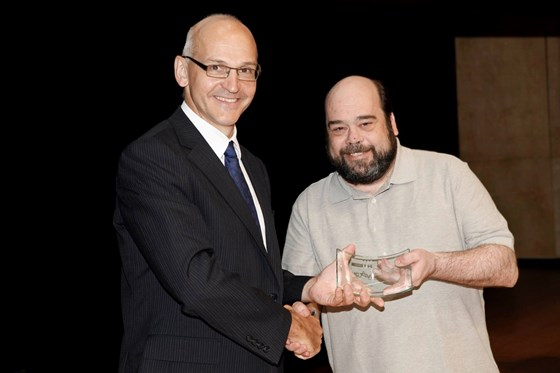Pete receiving his VCA
