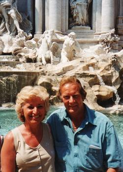 At the Trevi fountain in Rome