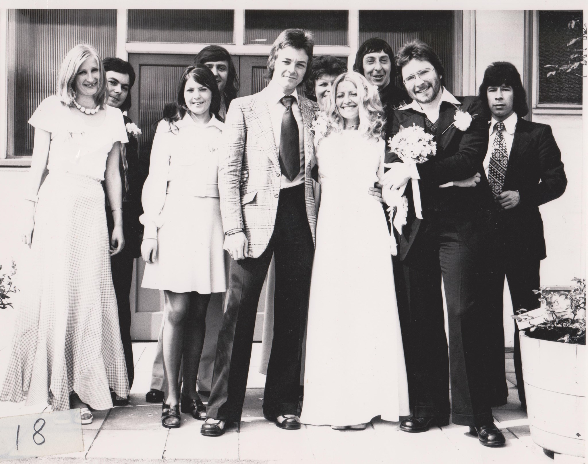 Mum & Dad's wedding with workmates from Brighton...