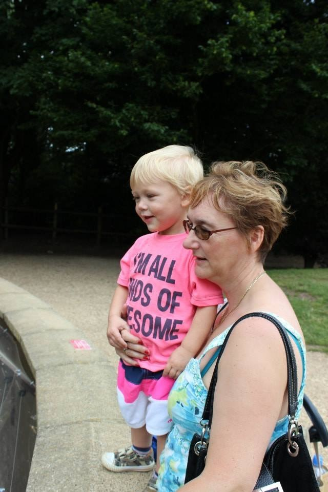 Wendy and Logan at Twycross Zoo
