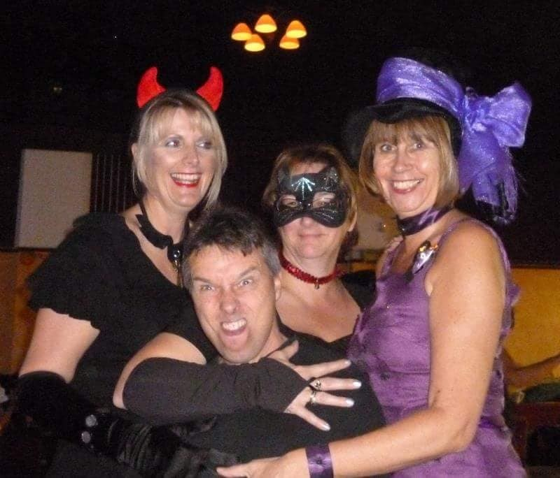 Gaz and Wendy cheeky cousins together with Jo and Tina Want2Dance Halloween