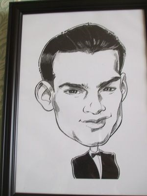 A caricature of Rich - taken at his work's Christmas do