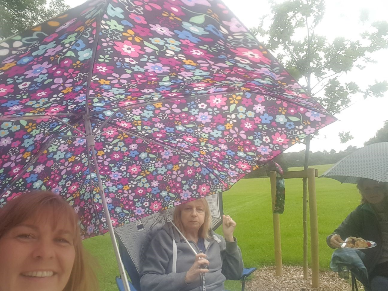 A dop of rain was not going to spoil our picnic at Hylands Park