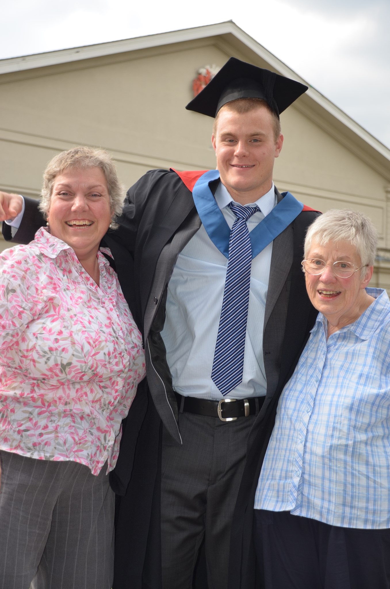with Angie and Grandson Josh at his Graduation 14th July 2011