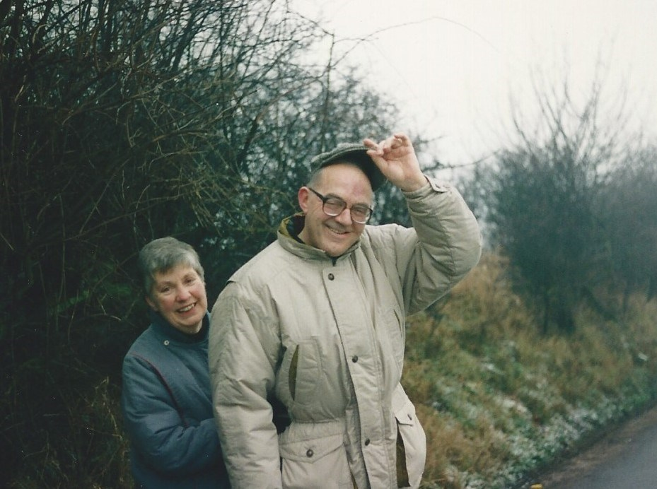 with Ray, Christmas in Chesterfield mid 1990's