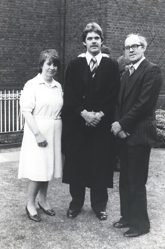 with Ray and Steve at his Graduation 1979
