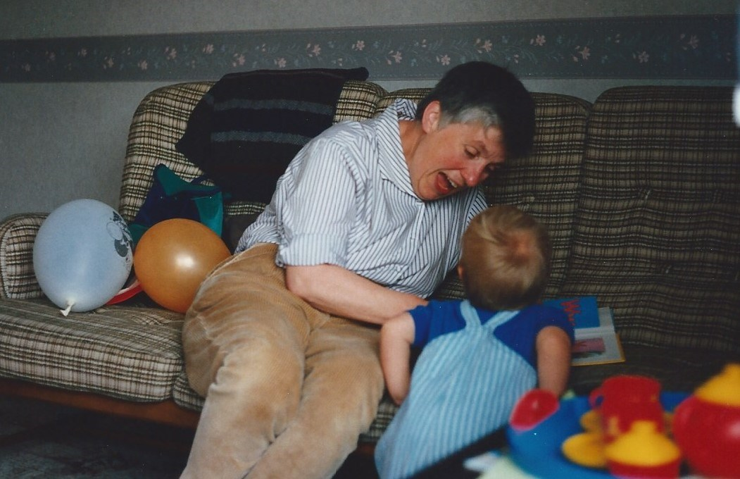 with youngest Grandson Sam, in Chesterfield about 1994