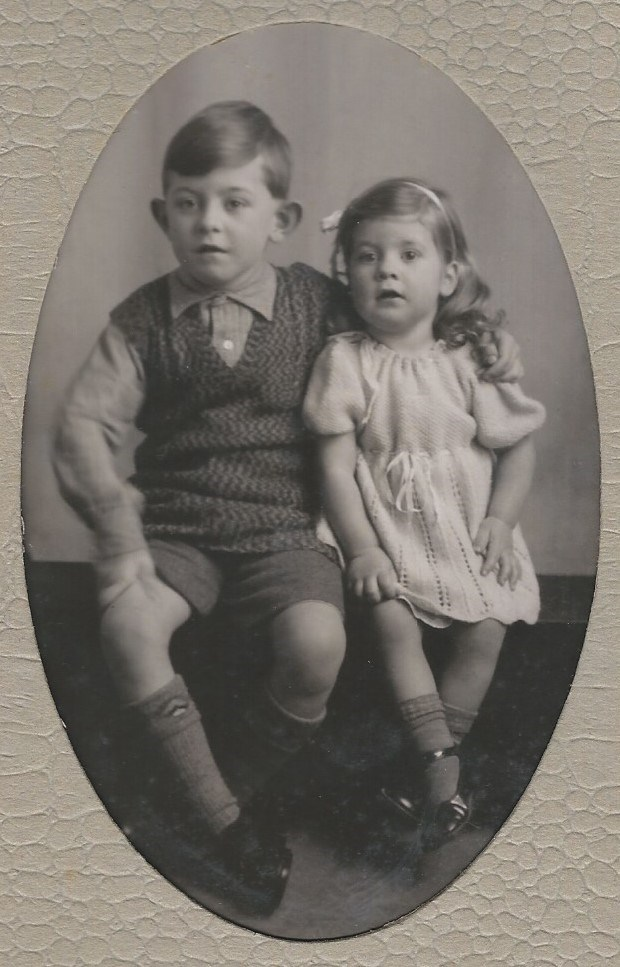 with brother Peter - about 1938